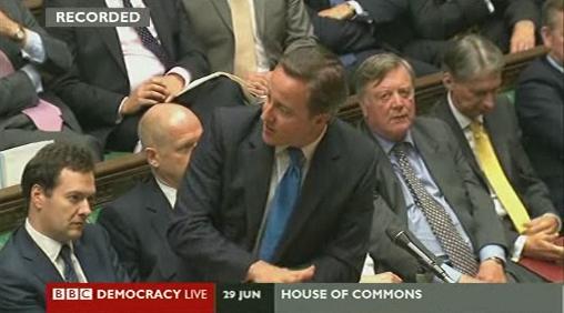 David Cameron and Julian Huppert debate in parliament